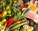 【炉端焼き】旬魚とお肉を贅沢に・・・どんたくコース(炭火焼きカウンター山笠)