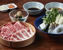 【ディナー】山形黒毛和牛ロース+ 米澤豚しゃぶしゃぶコース