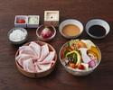 【ディナー】季節野菜しゃぶしゃぶ(米澤豚)セット