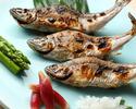 【Dinner】Robata Kaiseki Course 15,000yen (May, June,July,August,September,October,November)