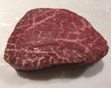 Dry aged Japanese black beef's tenderloin steak from Kagoshima Prefecture of Hiramatsu Ranch (100 g)