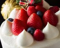 【 早期予約 特別価格 (11/30まで) 】クリスマスショートケーキ(丸型)15cm