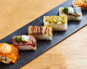 Aburi Sushi 6pc course ¥3500