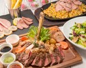 <平日・祝・日>【お祝いに最適♪】お肉中心のお食事5品+お祝いメッセージ入りハニトー+アルコール飲み放題