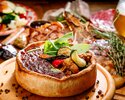 とろけるチーズのシカゴピザ、特注石窯で焼き上げたブランド豚「Tokyo X」食べ比べ新年会コース【直輸入樽生クラフトビール5種飲放】