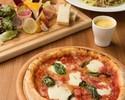 【カジュアルランチ+スパークリング含む2時間飲み放題付】サラダ・パスタやピッツァ、デザートの全4皿 3500円