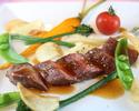 地元産の食材を多数用い、季節を映す旬の美味を楽しむ創作フレンチ「奏(kanade)」国産牛の炭火焼など全6品