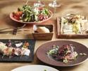 【秋の味覚】乾杯スパークリング付!オムレツサラダ、FISH&MEATのWメイン、旬の秋鮭のパエリアなどデザート付全6品