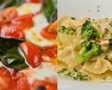 【おひとり様2200円】選べる乾杯ドリンク付き!ローマピッツァやオーガニックパスタなどイタリアン全5皿