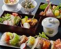 【Web予約限定】乾杯スパークリング付彩りロール寿司8貫と季節を味わうSHARI御膳
