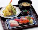 にぎり寿司と天扶良膳