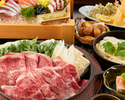 【特選黒毛和牛のすき焼きコース】新鮮鮮魚五点盛り、自家製胡麻豆腐、極上わらび餅(全9品)2時間飲み放題付