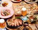 【一頭買いブランド豚「Tokyo X」食べ比べ堪能コース!】■樽生クラフトビール5種飲み放題!全40種飲み放題メニュー■特注石窯で焼き上げた「Tokyo X」グリル含む全7品