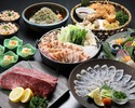 【忘年会鍋コース-とらふぐ刺し付-】『鶏すき鍋 ~利尻昆布使用~』(飲み放題付)6,000円