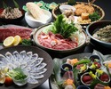 【忘年会鍋コース-とらふぐ刺し付-】『とろろ鍋~特製あご出汁仕立て~』(飲み放題付)6,000円