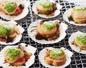 期間限定!帆立の香草バター焼き・ステーキ食べ放題ディナーブッフェ(1部)[ソフトドリンクバー付]