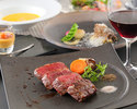 A5 grade Kobe beef sirloin steak dinner course