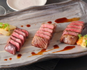 A5 Grade Kobe beef 3 types dinner course