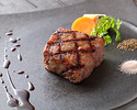 A5 grade Japanese black beef sirloin steak lunch course