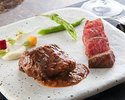 A5 grade Kobe beef stew + Kobe beef loin steak lunch course
