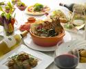 オマール海老やホタテのお鍋、国産鶏のグリルなど全10品!ワインを含む85種以上の飲放題付『ペシェコース』
