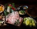 【~黄金出汁~イベリコ豚のしゃぶしゃぶコース】新鮮鮮魚五点盛り、蒸し鶏とレタスのシーザーサラダ(全9品)2時間飲み放題付