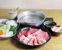 ☆ 松坂牛・六白黒豚・合鴨肉 しゃぶしゃぶランチ