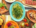【宴会に!カジュアルアロハコース】ハワイの定番料理アヒポキやガーリックシュリンプ、USハラミ肉など盛り込んだお得なコース 全7品 フリードリンク付き 料理のみ2480円