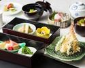 京風弁当に天ぷらがセットになった「旬菜御膳」