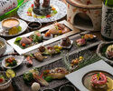 【福笑いコース】刺身、旬の食材炭火焼きなど10品 (飲み放題付き) 税込10,000円