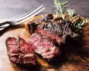 スカイツリービュー窓側席 ロバ肉・黒毛和牛ランプ肉盛り合わせコース