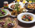 【乾杯ドリンク&食後のカフェ付き】カルパッチョ、季節の彩りパスタなど全7品