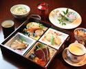 【はりまや御膳】お昼限定の特別献立。旬菜盛合せ等、女性のお客様に人気です!
