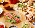 【夏コース】りびんぐ名物多喜合わせと茶美豚のステーキコース