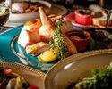 ⑥[3時間飲み放題付]忘年会に!オマール海老風味のチーズフォンデュと清流若鶏のローストチキン×牛タンのWメインコース