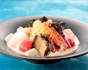 """Sairyu"" original cold noodles-seafood cold noodles with caviar concentrated soy milk ice cream-"