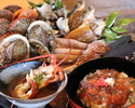 """Enjoy the Best Seafood Cuisine that You Can Imagine From Shima!Freshly harvested grilled abalone of the season, Ise-spiny lobster miso-soup, and """"Tekone-sushi"""", a local traditional sushi with marinated bonito."""
