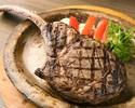 【予約限定|ディナー】1.3kg!大きなお肉をシェアして楽しくガッツリ食べよう! トマホークステーキ+食べ放題メニュー(1セット 4名様分)