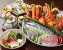 ☆天然活〆鮮魚お造りなど 特選皿鉢コース