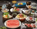 Sukiyaki Beef Zanmai Course (TOP Quality Beef)