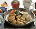 知床鶏とトマトの陶板すき焼き