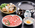 SUKIYAKI - UTAGE course (with Top Quality Beef)