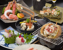Live hairy crab and shabu shabu course A(Crab size is midium)