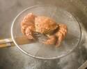【活毛蟹とたらば蟹コースB 蟹の大きさ大】全8品