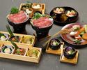【12月】<和月>佐賀県産 黒毛和牛と三浦産有機野菜のすき焼きコース(3時間飲み放題付き)