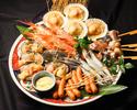 120分飲み放題✙海鮮浜焼き7品と牡蠣のピッツア付きコース
