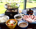 和食ランチ御膳「茶美豚のしゃぶしゃぶ御膳」