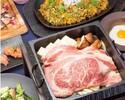 【3時間飲み放題★ディナー】黒毛和牛リブロースの「焼きすき」やローストビーフの肉寿司など厳選和牛<極み>プラン