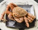 【活毛蟹と山形牛白すき鍋コースB 蟹の大きさ大】全8品