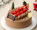 優待価格 いちごのクリスマスチョコクリーム18cm¥4,000